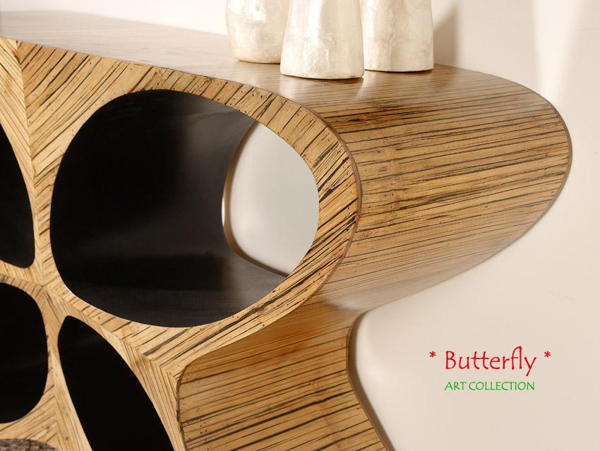 einzigartige tischkonsole schmetterling konsolentisch kommode konsole regal tv ebay. Black Bedroom Furniture Sets. Home Design Ideas