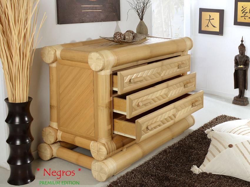 bambus kommode negros rattan bambusschrank sideboard. Black Bedroom Furniture Sets. Home Design Ideas
