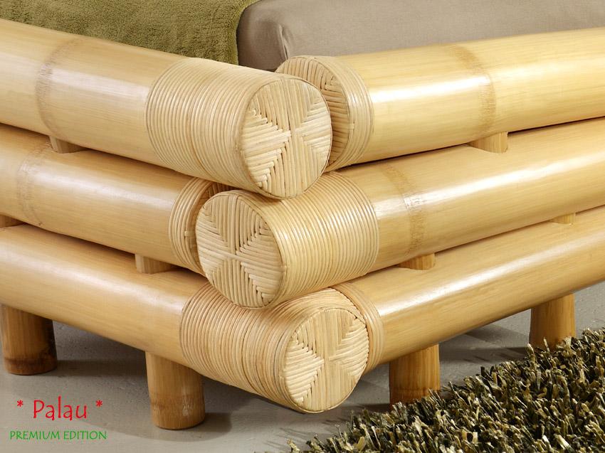bambusbett 160x200 palau rattan bettgestell bettrahmen holzbett futonbett bett ebay. Black Bedroom Furniture Sets. Home Design Ideas