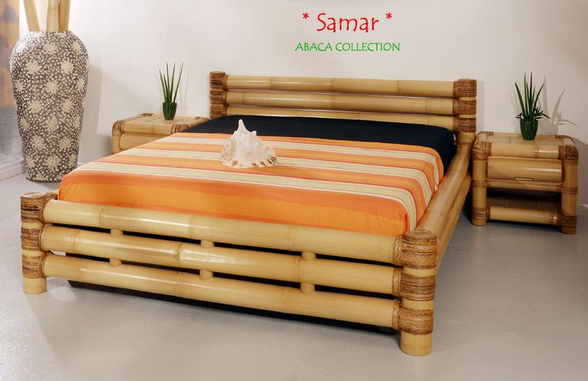 bambusbett 160x200 samar abaca doppelbett designerbett ehebett bettrahmen holz ebay. Black Bedroom Furniture Sets. Home Design Ideas