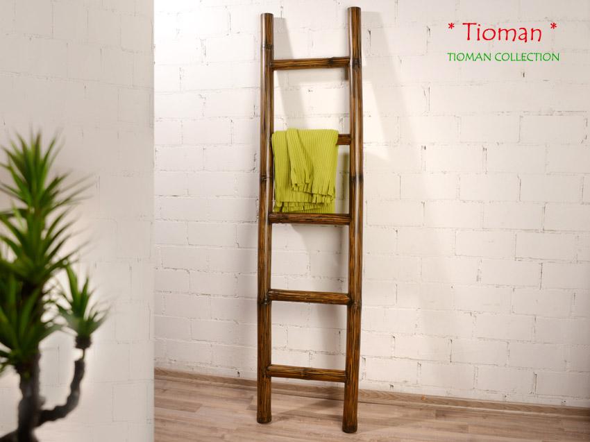 Bambus Handtuchhalter Tioman Bambusleiter Leiter Bambusrohr Bad