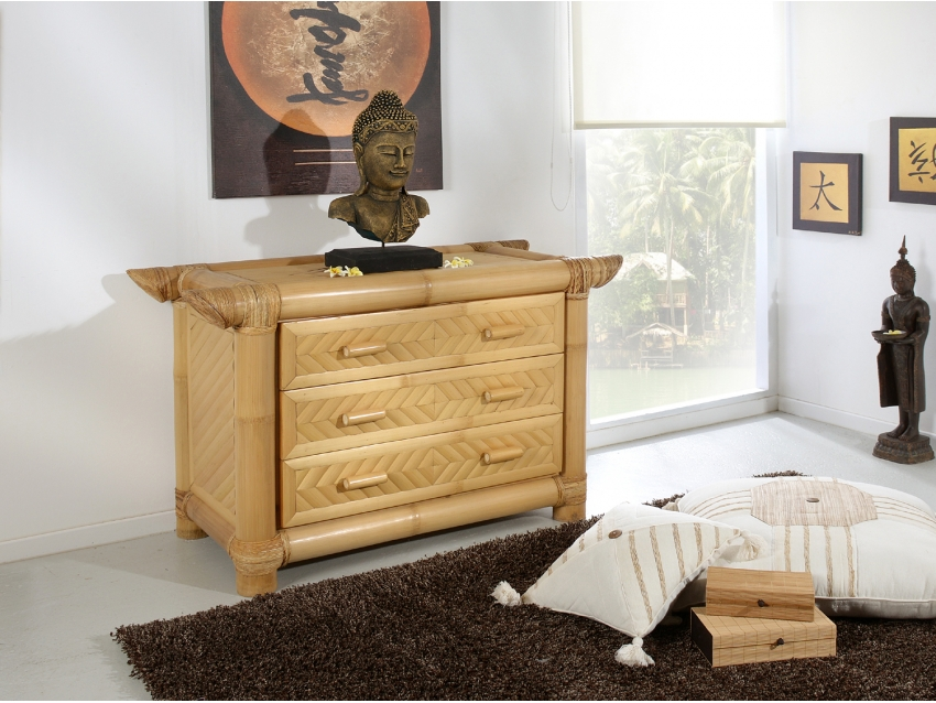 SUMARA Kommode - Bambus Sideboard | ABACA COLLECTION