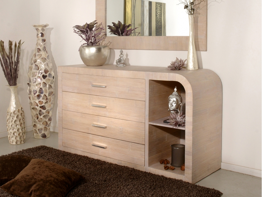 LANDAO Modernes Sideboard mit 4 Schubladen und Regalfach | LANDAO COLLECTION