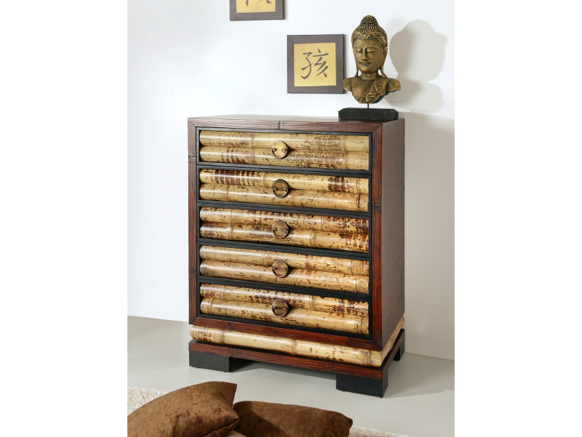 ECO Traumhafte Chiffonier Kommode mit 5 Schubladen | ECO COLLECTION