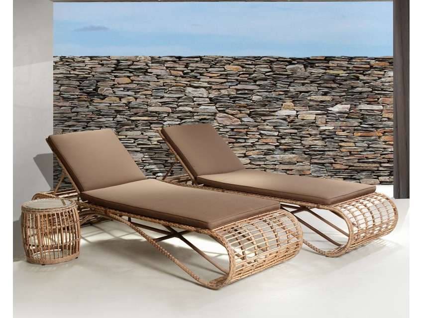 SINTRA Designer Beistelltisch mit Glasplatte | OUTDOOR COLLECTION
