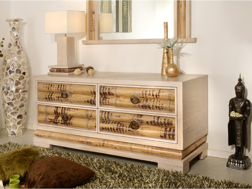 ECO Sideboard mit 4 Schubladen Klein | CEBU COLLECTION