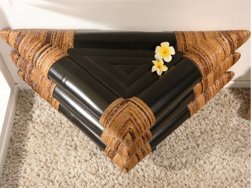 SAMOA - 60x60 cm - Bambus Nachtkonsole | BLACK-ABACA COLLECTION