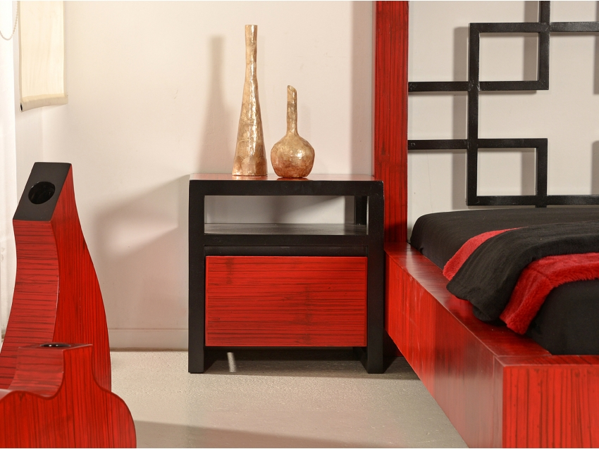 MING RED Nachtkonsole mit 1 Schublade | MING COLLECTION