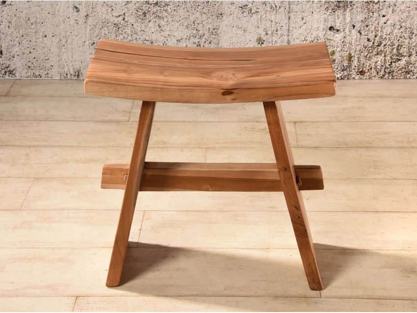 HASHIMA Hocker aus Suar Holz - massiver Sitz- oder Dekorhocker | WOOD COLLECTION