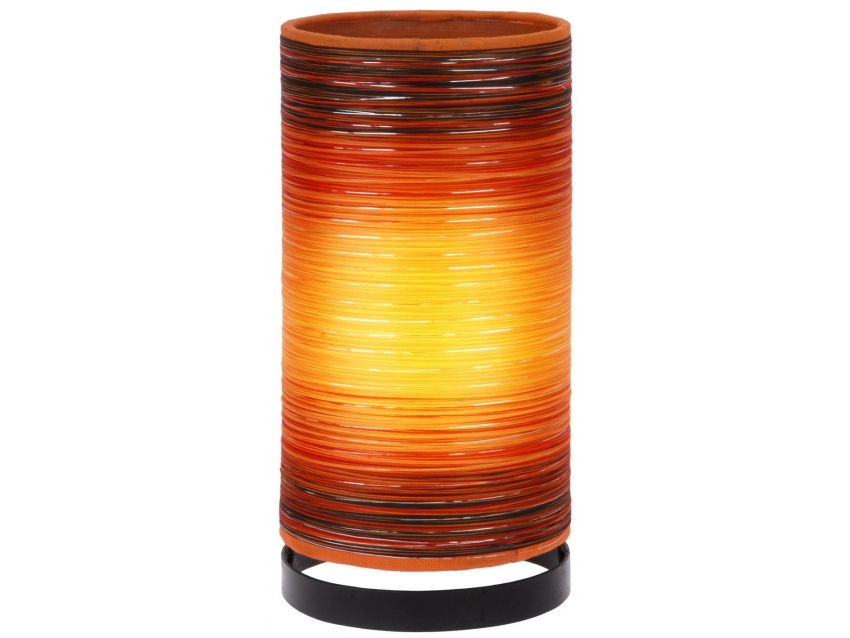 JULIE Tischlampe Orange - Höhe 30 cm | FLAIR COLLECTION